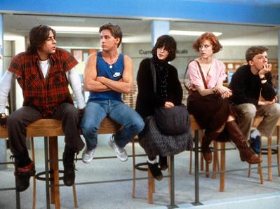 """Foto do filme """"Clube dos Cinco"""" - Um filme muito bom sobre adolescentes, recomendo!"""