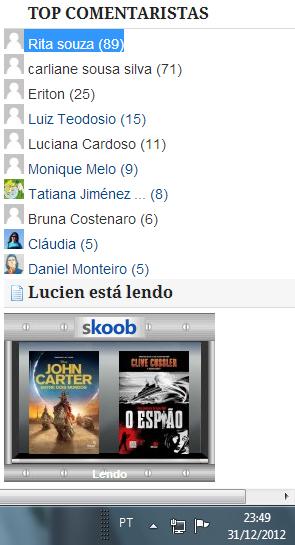 Top Comentarista - Dezembro 2012