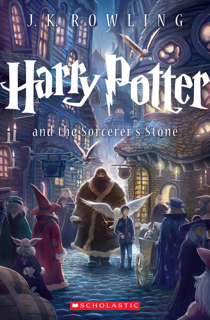 Nova capa, americana de harry Potter e a Pedra Filosofal
