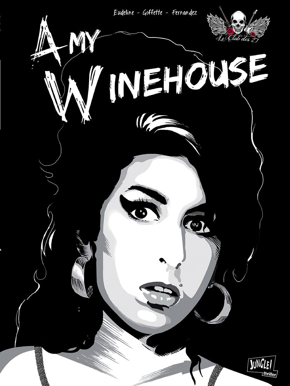 Capa, da HQ biográfica de Amy Winehouse