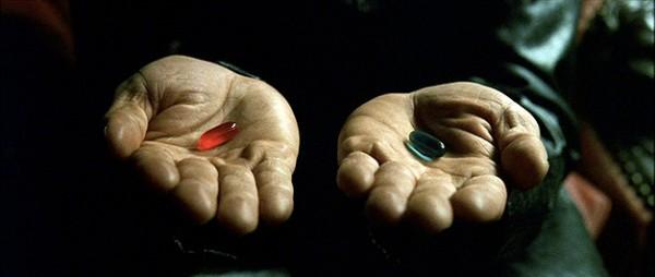 Pílula vermelha ou pílula azul?