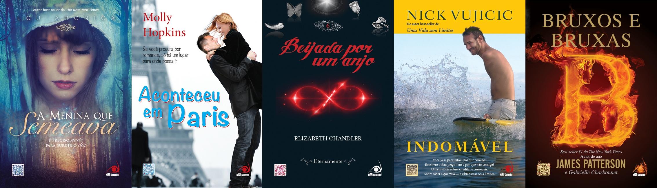 Capas dos lançamentos de Junho e Julho.