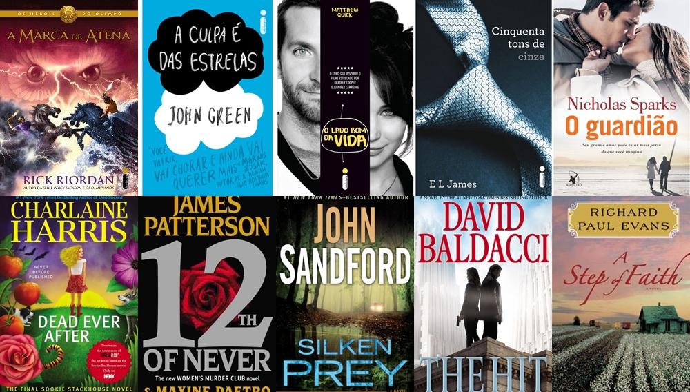 Os cinco de ficção mais vendidos da Revista Veja é da Entertainment Weekly