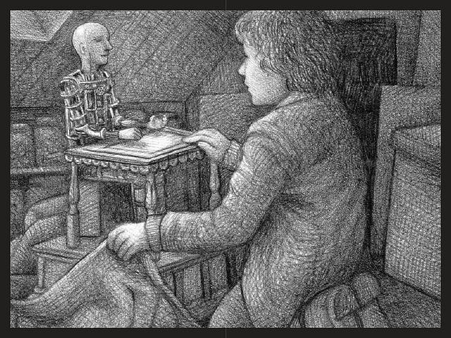 hugo e o automato desenho