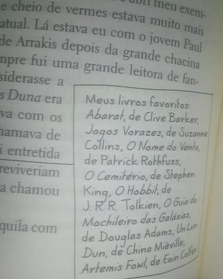 Exemplo de anotação no livro