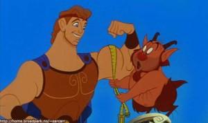 """Sucesso da Disney, o filme """"Hércules"""" de 1997 traz magia, música e enredo relacionado ao mito estudado."""