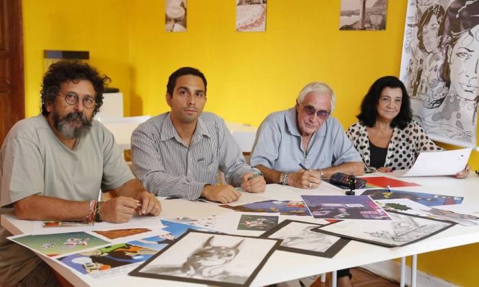 Da esquerda para direita, Francisco Ferreth, Lincoln Nery, Walmir Amaral e Ágata Desmond, a presidente da Abrahq