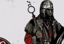 Corte da capa do livro que mostra o tronco de um guerreiro com armadura segurando uma espada. Ele está em cima de um cavalo.