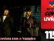 """Vitrine do podcast Covil de Livros. No primeiro plano, cena do filme """"Entrevista com o Vampiro"""" contendo Brad Pitty, Tom Cruise e Kristen Dust. Na lateral direita, faixa vertical escrito """"Podcast Covil de Livros"""" e o número da edição: 115."""